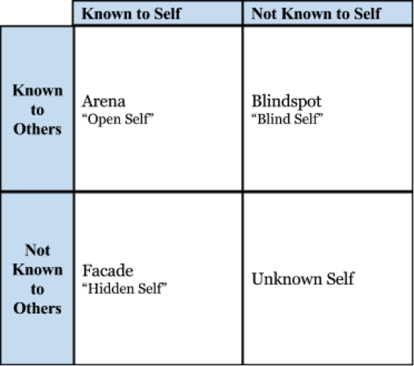 johari window, john berger, ways of seeing